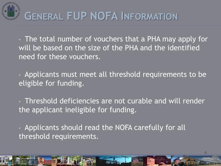 General FUP NOFA Information