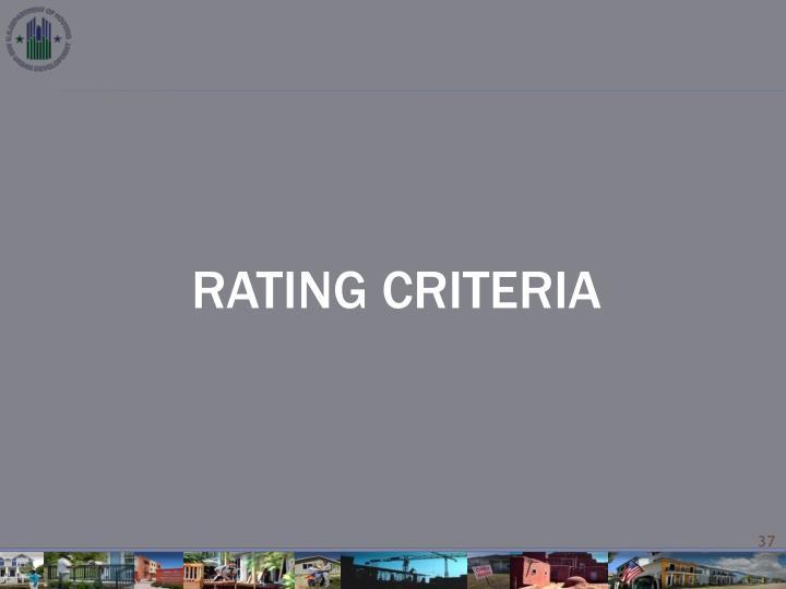 RATING CRITERIA