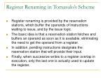 register renaming in tomasulo s scheme