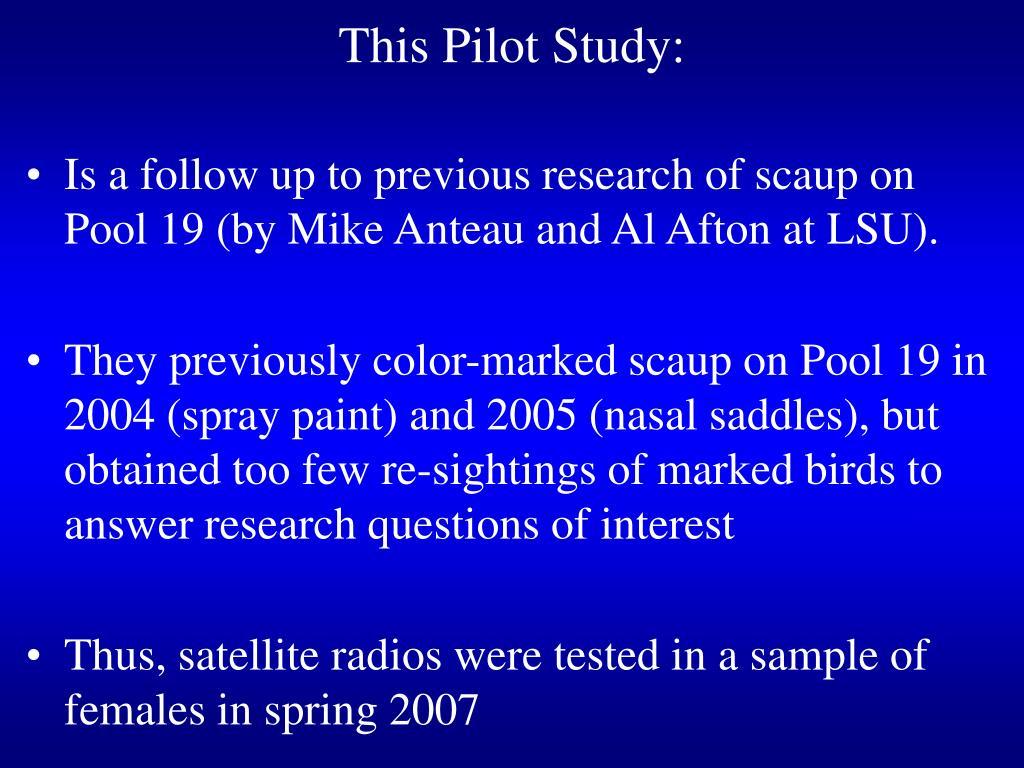 This Pilot Study: