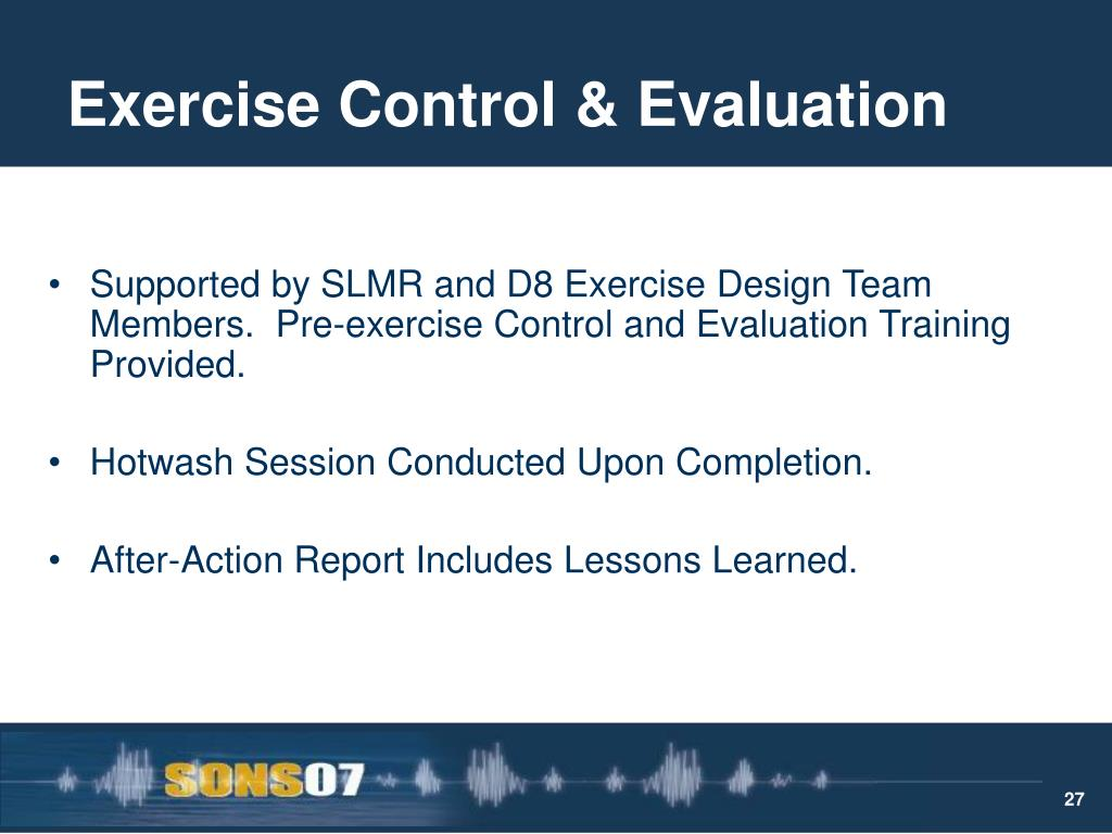 Exercise Control & Evaluation