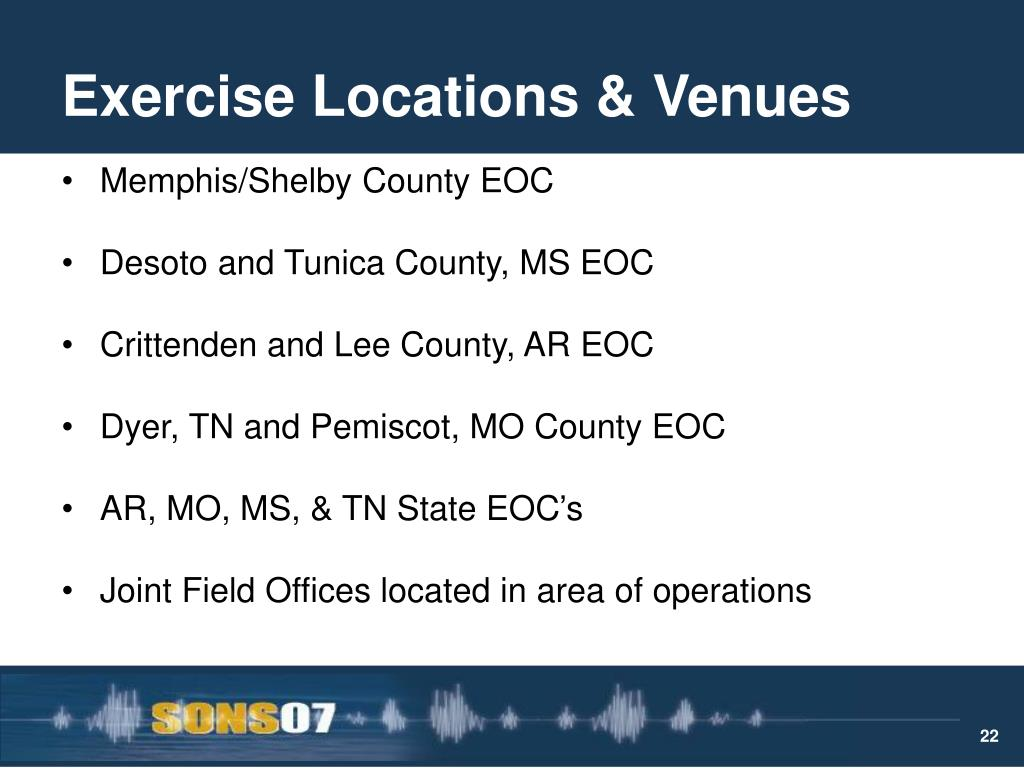 Exercise Locations & Venues