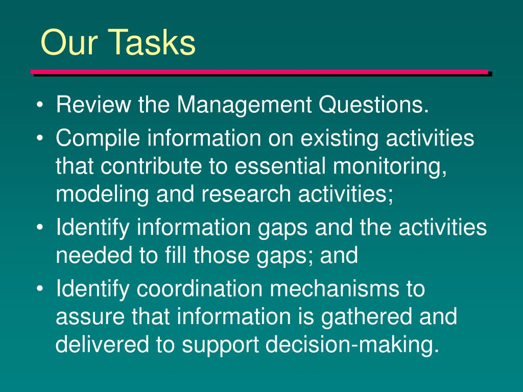 Our Tasks