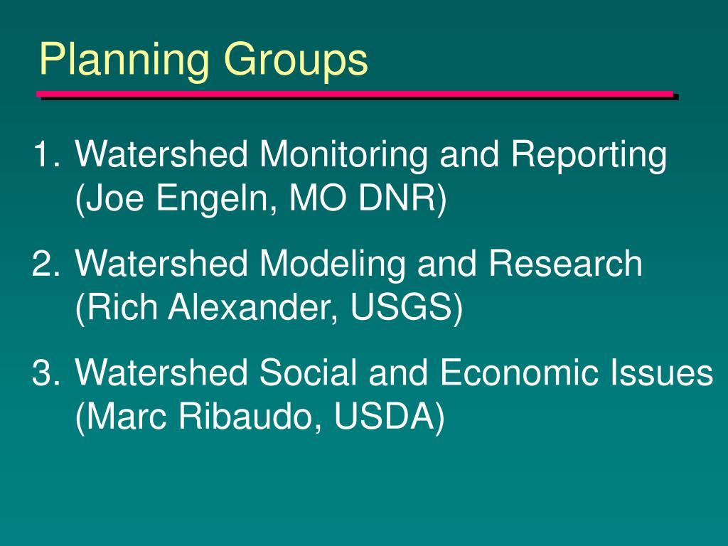 Planning Groups