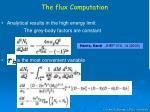 the flux computation
