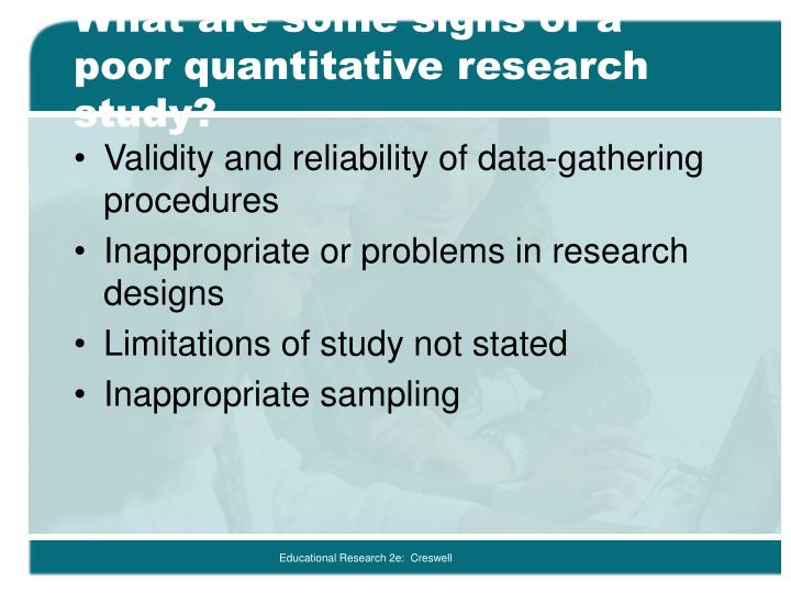 limitations in quantitative research