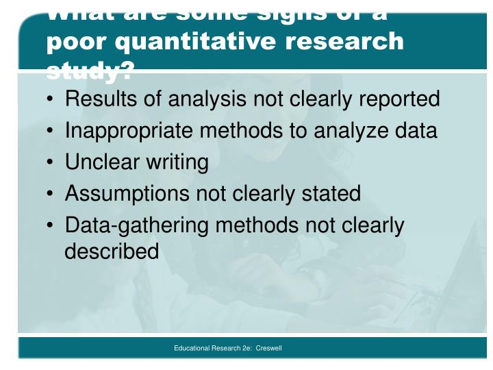 limitations in quantitative research Research methods research methods are generalised and established ways of approaching research questions research methods are divided into qualitative and quantitative approaches and involve the specific study activities of collecting and analyzing research data in order to answer the particular research question.
