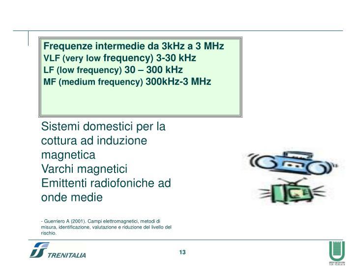 Frequenze intermedie da 3kHz a 3 MHz
