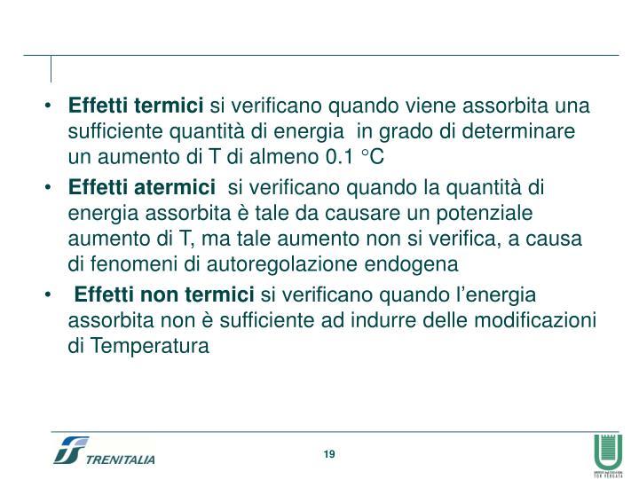 Effetti termici