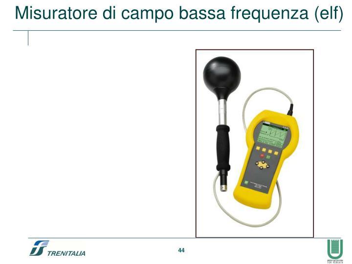 Misuratore di campo bassa frequenza (elf)