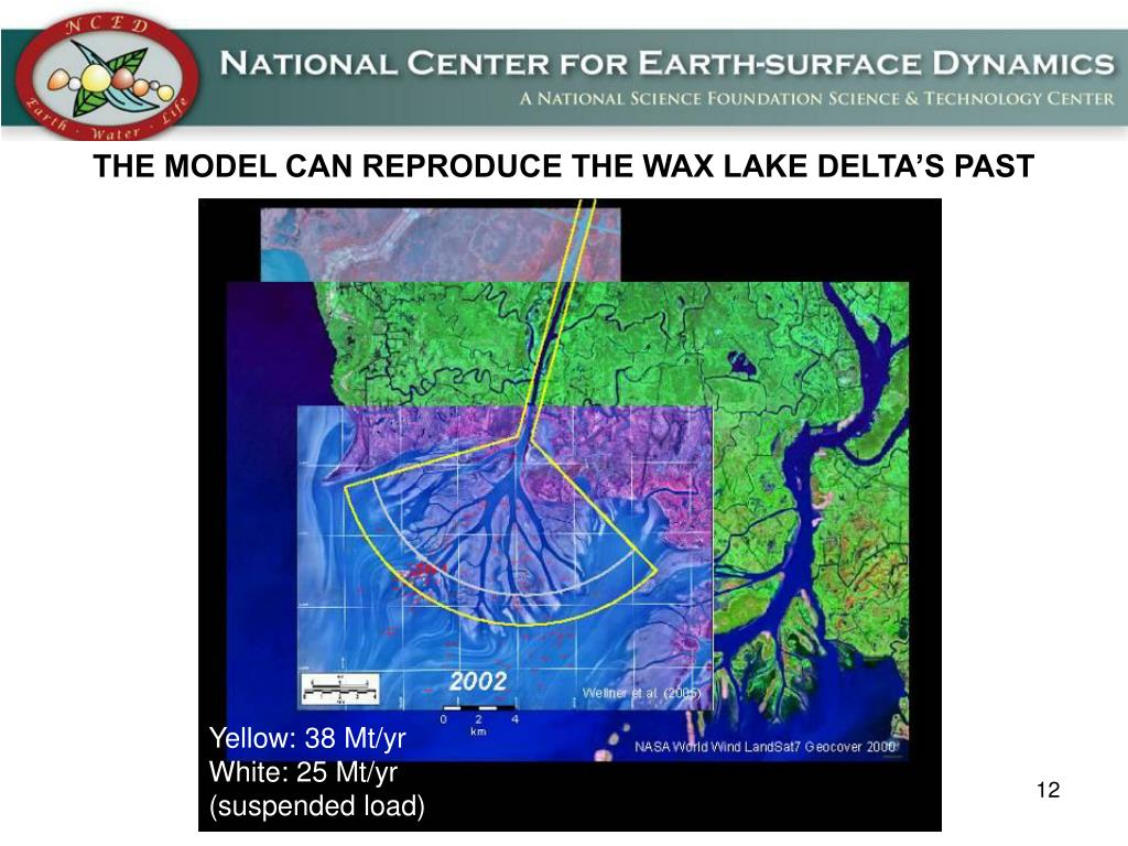 THE MODEL CAN REPRODUCE THE WAX LAKE DELTA'S PAST