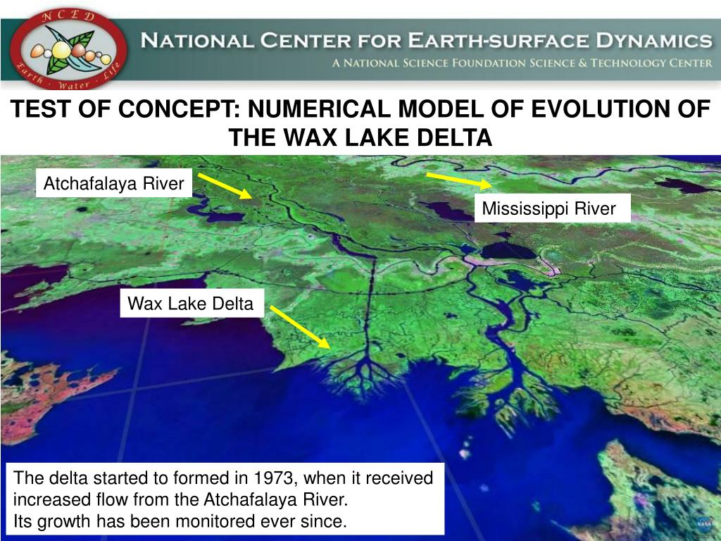 TEST OF CONCEPT: NUMERICAL MODEL OF EVOLUTION OF THE WAX LAKE DELTA