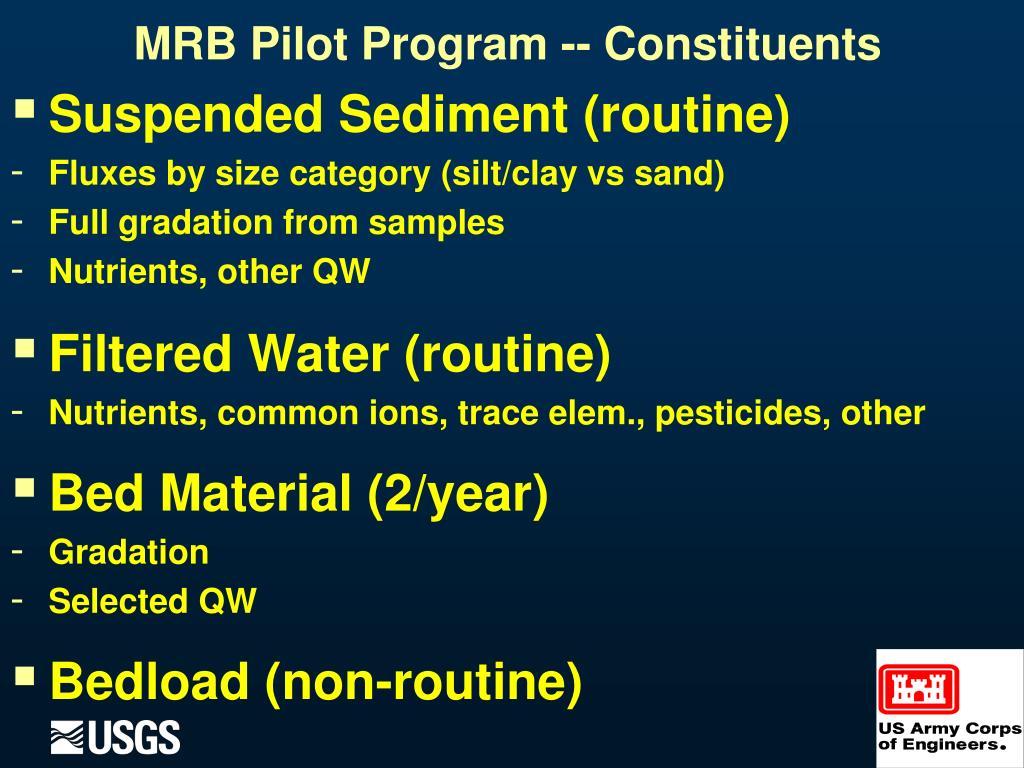 Suspended Sediment (routine)