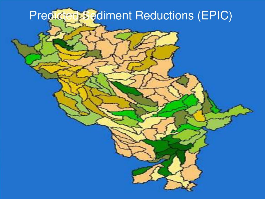 Predicted Sediment Reductions (EPIC)