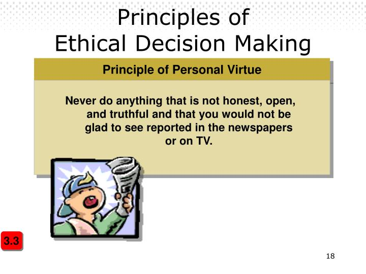 ethical decision making paper