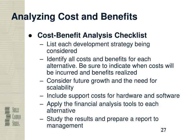 Analyzing Cost and Benefits