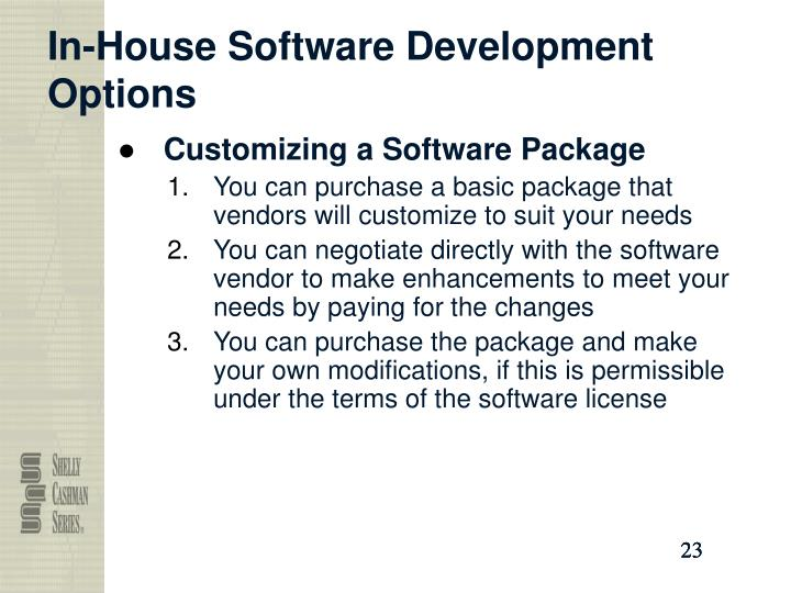 In-House Software Development Options