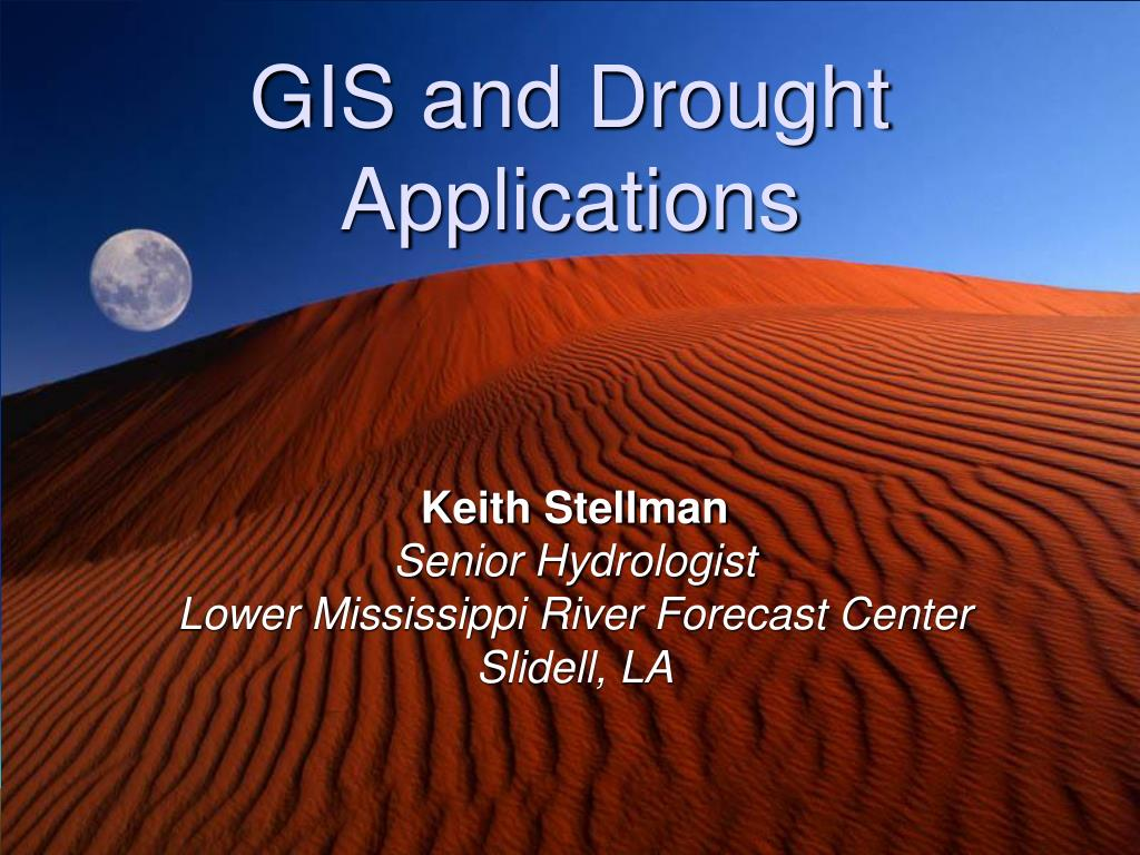 gis and drought applications l.