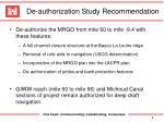 de authorization study recommendation
