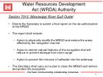 water resources development act wrda authority