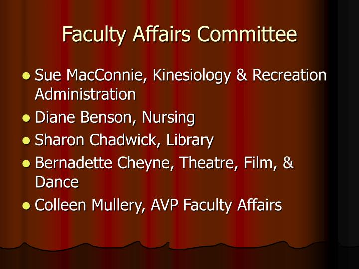 Faculty affairs committee