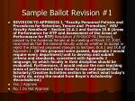 sample ballot revision 1