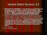 sample ballot revision 2