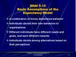 slide 5 12 basic assumptions of the expectancy model