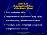 slide 5 20 organizational uses of the equity model