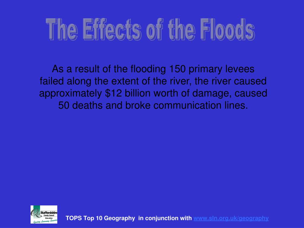 The Effects of the Floods