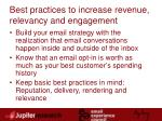 best practices to increase revenue relevancy and engagement