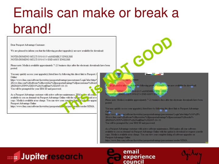 Emails can make or break a brand!