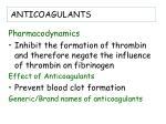 anticoagulants