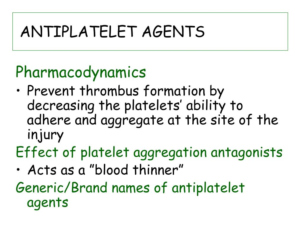 ANTIPLATELET AGENTS