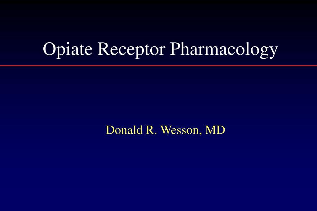 opiate receptor pharmacology l.