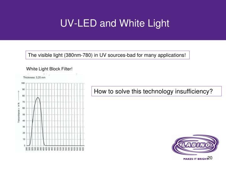 UV-LED and White Light