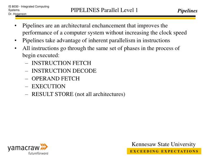 pipelines parallel level 1 n.