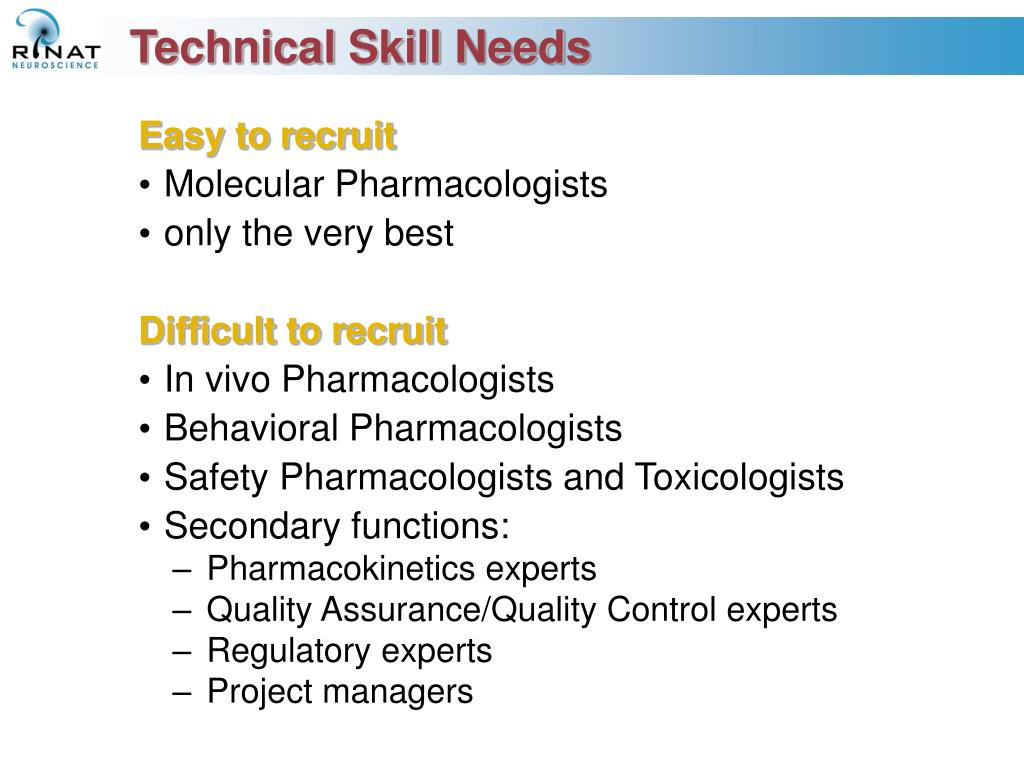 Technical Skill Needs