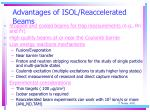 advantages of isol reaccelerated beams