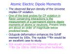 atomic electric dipole moments