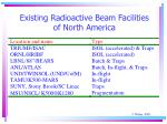 existing radioactive beam facilities of north america
