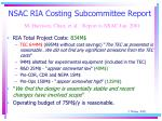nsac ria costing subcommittee report