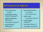antihistamine agents