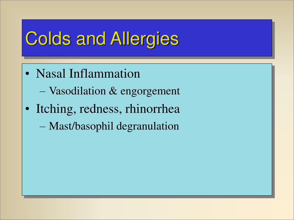 Colds and Allergies