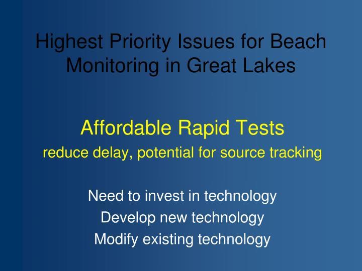 Affordable Rapid Tests