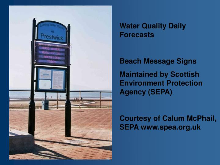 Water Quality Daily Forecasts