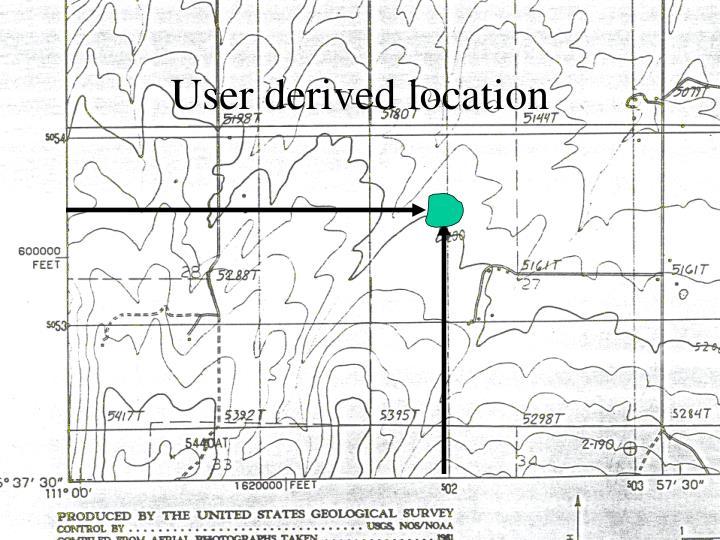User derived location