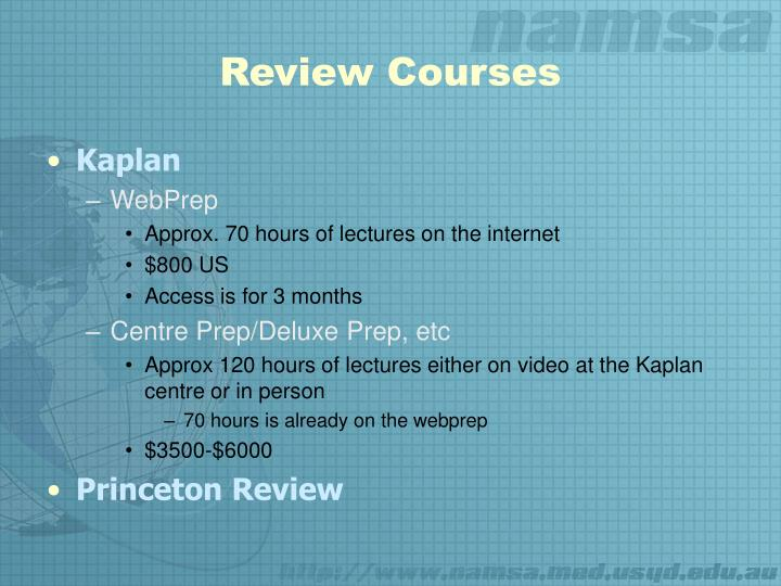 Review Courses