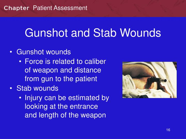 Gunshot and Stab Wounds