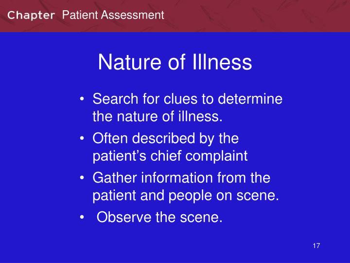 Nature of Illness